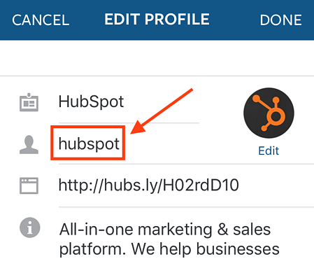 "edit-instagram-username.png ""title ="" edit-instagram-username.png ""larghezza ="" 450 ""dati-limitato ="" vero ""stile ="" larghezza: 450px; ""srcset ="" https: //blog.hubspot. com / hs-fs / hubfs / edit-instagram-username.png? width = 225 & name = edit-instagram-username.png 225w, https://blog.hubspot.com/hs-fs/hubfs/edit-instagram-username .png? width = 450 & name = edit-instagram-username.png 450w, https://blog.hubspot.com/hs-fs/hubfs/edit-instagram-username.png?width=675&name=edit-instagram-username. png 675w, https://blog.hubspot.com/hs-fs/hubfs/edit-instagram-username.png?width=900&name=edit-instagram-username.png 900w, https://blog.hubspot.com/ hs-fs / hubfs / edit-instagram-username.png? width = 1125 & name = edit-instagram-username.png 1125w, https://blog.hubspot.com/hs-fs/hubfs/edit-instagram-username.png ? larghezza = 1350 e nome = edit-instagram-username.png 1350w ""dimensioni ="" (larghezza massima: 450px) 100vw, 450px"