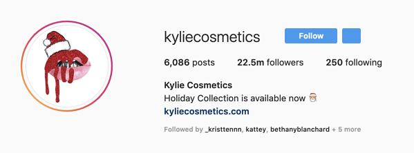"Immagine del profilo di Kylie Cosmetics Instagram ""srcset ="" https://blog.hubspot.com/hs-fs/hubfs/image-2703.png?width=300&name=image-2703.png 300w, https: //blog.hubspot. com / hs-fs / hubfs / image-2703.png? width = 600 & name = image-2703.png 600w, https://blog.hubspot.com/hs-fs/hubfs/image-2703.png?width=900&name = image-2703.png 900w, https://blog.hubspot.com/hs-fs/hubfs/image-2703.png?width=1200&name=image-2703.png 1200w, https://blog.hubspot.com /hs-fs/hubfs/image-2703.png?width=1500&name=image-2703.png 1500w, https://blog.hubspot.com/hs-fs/hubfs/image-2703.png?width=1800&name= image-2703.png 1800w ""dimensioni ="" (larghezza massima: 600px) 100vw, 600px"