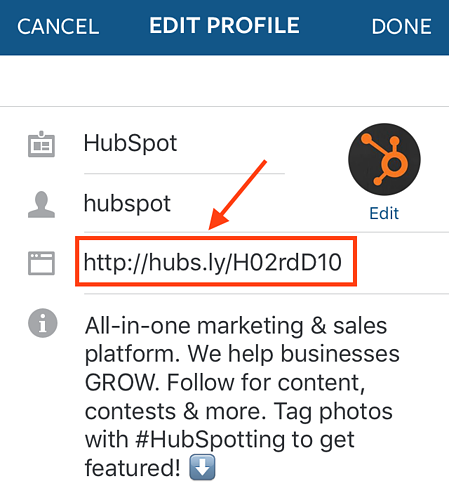 """edit-link-instagram-profile.png """"title ="""" edit-link-instagram-profile.png """"larghezza ="""" 450 """"dati vincolati ="""" vero """"stile ="""" larghezza: 450px; """"srcset ="""" https: // blog.hubspot.com/hs-fs/hubfs/edit-link-instagram-profile.png?width=225&name=edit-link-instagram-profile.png 225w, https://blog.hubspot.com/hs-fs /hubfs/edit-link-instagram-profile.png?width=450&name=edit-link-instagram-profile.png 450w, https://blog.hubspot.com/hs-fs/hubfs/edit-link-instagram- profile.png? width = 675 & name = edit-link-instagram-profile.png 675w, https://blog.hubspot.com/hs-fs/hubfs/edit-link-instagram-profile.png?width=900&name=edit -link-instagram-profile.png 900w, https://blog.hubspot.com/hs-fs/hubfs/edit-link-instagram-profile.png?width=1125&name=edit-link-instagram-profile.png 1125w , https://blog.hubspot.com/hs-fs/hubfs/edit-link-instagram-profile.png?width=1350&name=edit-link-instagram-profile.png 1350w """"size ="""" (larghezza massima: 450px) 100vw, 450px"""