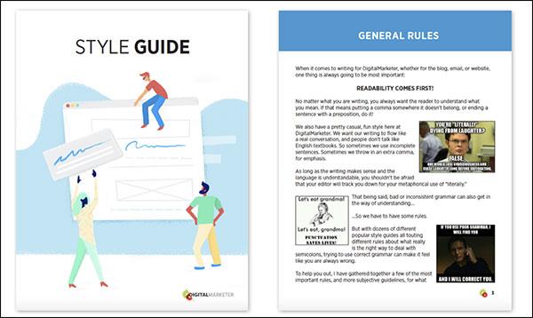Guida generale allo stile di DigitalMarketer Regole generali