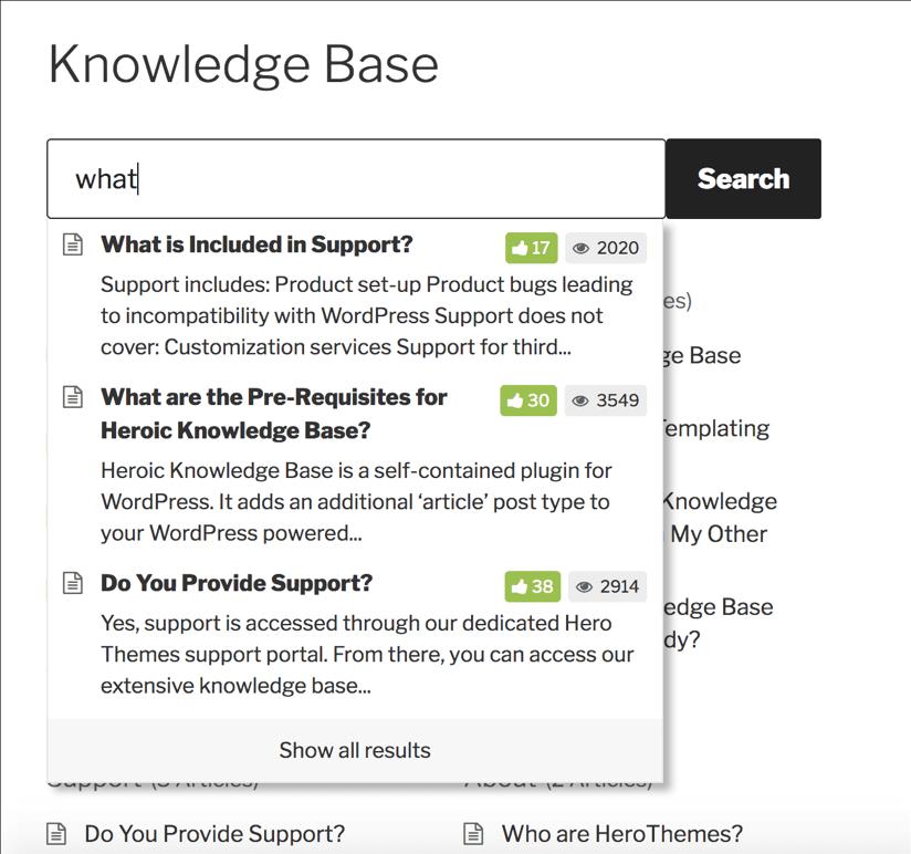Impostare la tua base di conoscenza