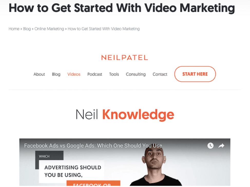 "Neil Patel 'Come iniziare con il marketing video' ""width ="" 974 ""height ="" 729 ""srcset ="" https://www.smartinsights.com/wp-content/uploads/2018/12/Neil-Patel-video .png 974w, https://www.smartinsights.com/wp-content/uploads/2018/12/Neil-Patel-video-150x112.png 150w, https://www.smartinsights.com/wp-content/uploads /2018/12/Neil-Patel-video-550x412.png 550w, https://www.smartinsights.com/wp-content/uploads/2018/12/Neil-Patel-video-768x575.png 768w, https: / /www.smartinsights.com/wp-content/uploads/2018/12/Neil-Patel-video-700x524.png 700w, https://www.smartinsights.com/wp-content/uploads/2018/12/Neil- Patel-video-250x187.png 250w ""size ="" (larghezza massima: 974px) 100vw, 974px"