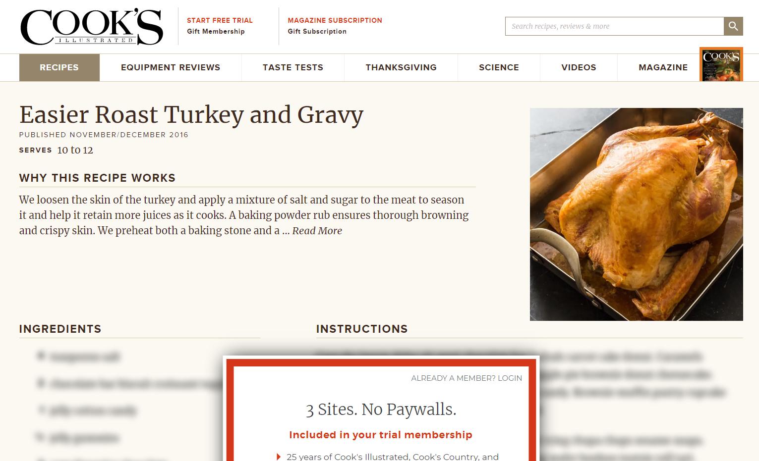 sito che prende in giro le informazioni dietro un paywall.