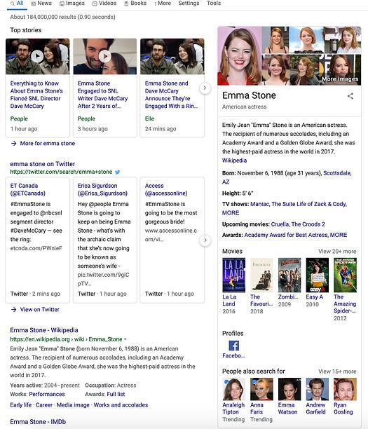 "La ricerca semantica di Emma Stone mostra interessi correlati. ""Width ="" 525 ""style ="" width: 525px; blocco di visualizzazione; margine: 0px auto; ""srcset ="" https://blog.hubspot.com/hs-fs/hubfs/The%20Plain-English%20Guide%20to%20Semantic%20Search%20in%202019-1.jpeg?width=263&name =% 20Plain-English% 20Guide% 20to% 20Semantic% 20Search% 20in% 202019-1.jpeg 263w, https://blog.hubspot.com/hs-fs/hubfs/The%20Plain-English%20Guide%20to% 20Semantic% 20Search% 20in% 202019-1.jpeg? Width = 525 & name = The% 20Plain-English% 20Guide% 20to% 20Semantic% 20Search% 20in% 202019-1.jpeg 525w, https://blog.hubspot.com/hs -fs / hubfs / L'% 20Plain-Inglese% 20Guide% 20to% 20Semantic% 20Search% 20in% 202019-1.jpeg? width = 788 & name = Il% 20Plain-Inglese% 20Guide% 20to% 20Semantic% 20Search% 20in% 202.019-1 .jpeg 788w, https://blog.hubspot.com/hs-fs/hubfs/The%20Plain-English%20Guide%20to%20Semantic%20Search%20in%202019-1.jpeg?width=1050&name=The%20Plain- Inglese% 20Guida% 20to% 20Semantic% 20Search% 20in% 202019-1.jpeg 1050w, https://blog.hubspot.com/hs-fs/hubfs/The%20Plain-English%20Guide%20to%20Semantic%20Search%20in % 202019-1.jpeg? width = 1313 & name = Il% 20Plain-Inglese% 20Guide% 20to% 20Sem antic% 20Search% 20in% 202019-1.jpeg 1313w, https://blog.hubspot.com/hs-fs/hubfs/The%20Plain-English%20Guide%20to%20Semantic%20Search%20in%202019-1.jpeg ? width = 1575 & name = The% 20Plain-English% 20Guide% 20to% 20Semantic% 20Cerca% 20in% 202019-1.jpeg 1575w ""size ="" (larghezza massima: 525px) 100vw, 525px"