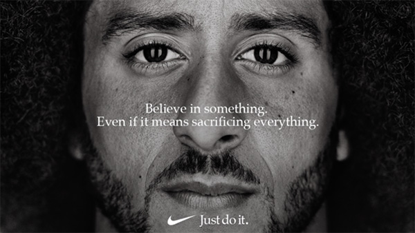La campagna Nike Colin Kaepernick 2018
