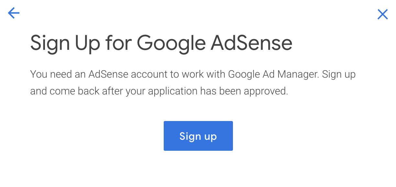 configurazione di google ad manager
