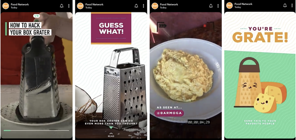 """Food Network Snapchat Scopri la storia """"width ="""" 600 """"style ="""" larghezza: 600px; blocco di visualizzazione; margine: 0px auto; """"srcset ="""" https://blog.hubspot.com/hs-fs/hubfs/How%2013%20Brands%20Are%20Leveraging%20Snapchat%20Discover-4.png?width=300&name=How%2013 % 20Brands% 20Are% 20Leveraging% 20Snapchat% 20Discover-4.png 300w, https://blog.hubspot.com/hs-fs/hubfs/How%2013%20Brands%20Are%20Leveraging%20Snapchat%20Discover-4.png? width = 600 & name = How% 2013% 20Brands% 20Are% 20Leveraging% 20Snapchat% 20Discover-4.png 600w, https://blog.hubspot.com/hs-fs/hubfs/How%2013%20Brands%20Are%20Leveraging%20Snapchat % 20Discover-4.png? Width = 900 & name = How% 2013% 20Brands% 20Are% 20Leveraging% 20Snapchat% 20Discover-4.png 900w, https://blog.hubspot.com/hs-fs/hubfs/How%2013% 20 Marchi% 20Are% 20Leveraging% 20Snapchat% 20Scopri-4.png? Larghezza = 1200 e nome = How% 2013% 20Brands% 20Are% 20Leveraging% 20Snapchat% 20Discover-4.png 1200w, https://blog.hubspot.com/hs-fs /hubfs/How%2013%20Brands%20Are%20Leveraging%20Snapchat%20Discover-4.png?width=1500&name=How%2013%20Brands%20Are%20Leveraging%20Snapchat%20Discover-4.png 1500w, https: blog hubspot.com/hs-f s / hubfs / How% 2013% 20Brands% 20Are% 20Leveraging% 20Snapchat% 20Discover-4.png? width = 1800 & name = How% 2013% 20Brands% 20Are% 20Leveraging% 20Snapchat% 20Discover-4.png 1800w """"size ="""" (max -width: 600px) 100vw, 600px"""