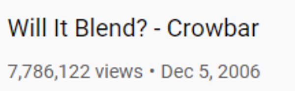 Si fonderà? - Conteggio visualizzazioni Crowbar Youtube: oltre 7 milioni di visualizzazioni