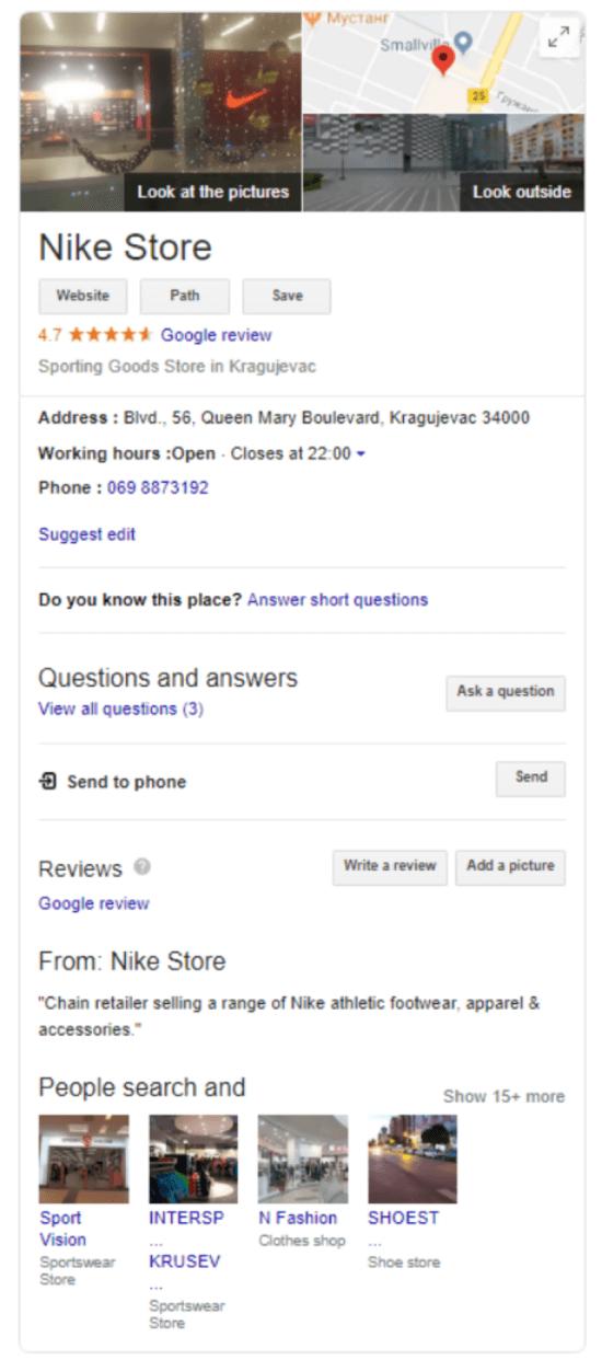 """Profilo di Google My Business """"larghezza ="""" 550 """"height ="""" 1242 """"srcset ="""" https://megamarketing.it/wp-content/uploads/2019/12/1577504093_430_Esecuzione-di-un-audit-SEO-locale-per-la-tua-azienda.png 550w , https://www.smartinsights.com/wp-content/uploads/2019/12/Google-My-Business-profile-700x1581.png 700w, https://www.smartinsights.com/wp-content/uploads/ 2019/12 / Google-My-Business-profile-66x150.png 66w, https://www.smartinsights.com/wp-content/uploads/2019/12/Google-My-Business-profile-680x1536.png 680w, https://www.smartinsights.com/wp-content/uploads/2019/12/Google-My-Business-profile-177x400.png 177w, https://www.smartinsights.com/wp-content/uploads/2019 /12/Google-My-Business-profile.png 747w """"dimensioni ="""" (larghezza massima: 550px) 100vw, 550px"""