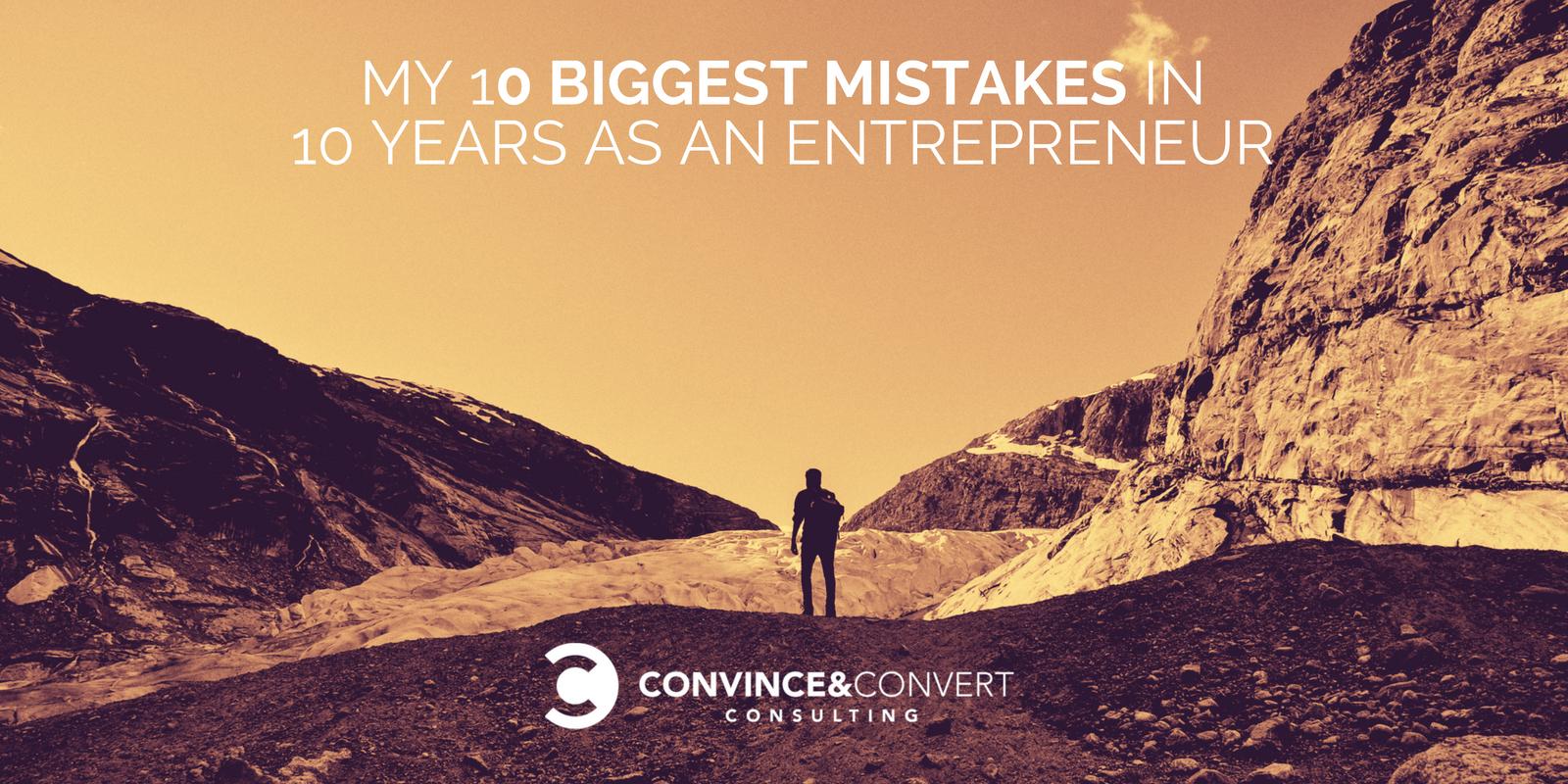 10 errori da imprenditore