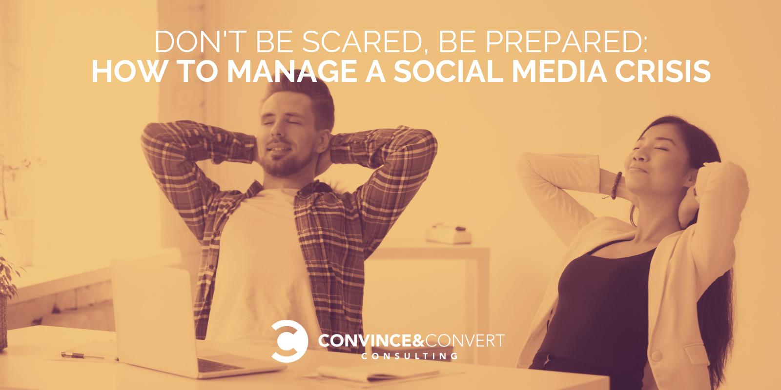 come gestire una crisi sui social media
