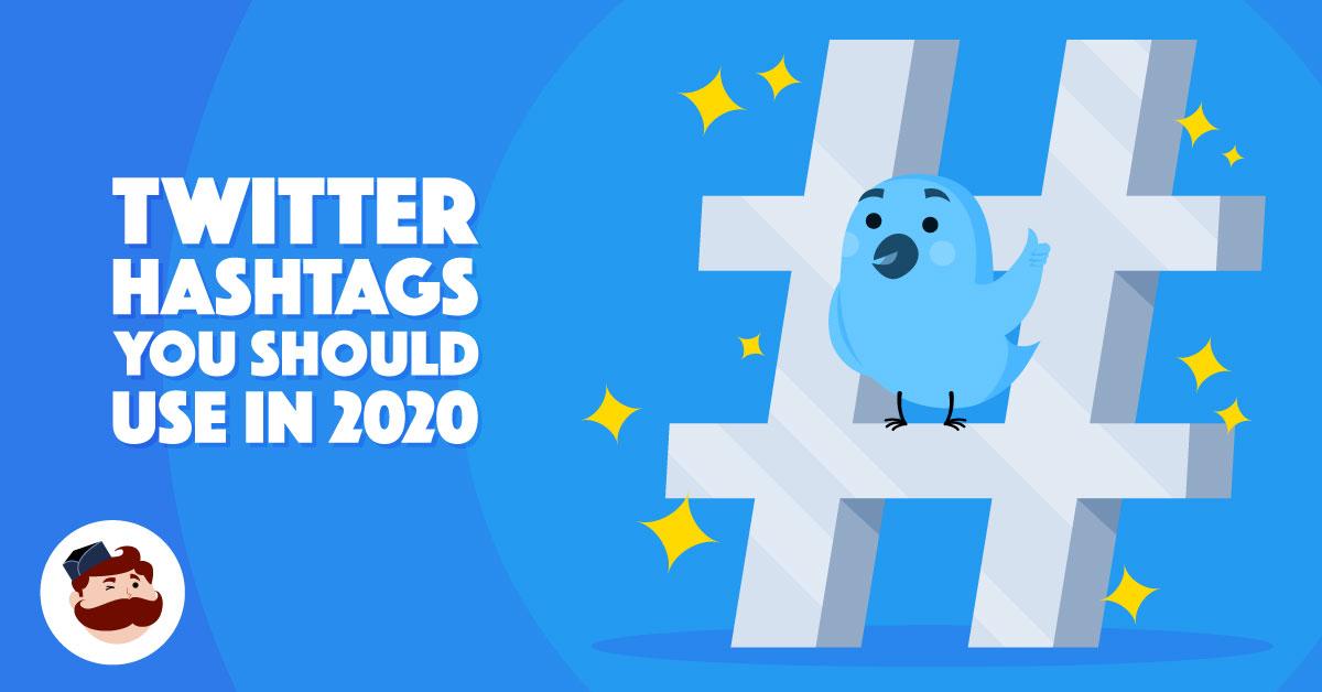 Hashtag di Twitter nell'illustrazione del 2020