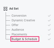 opzione budget e pianificazione