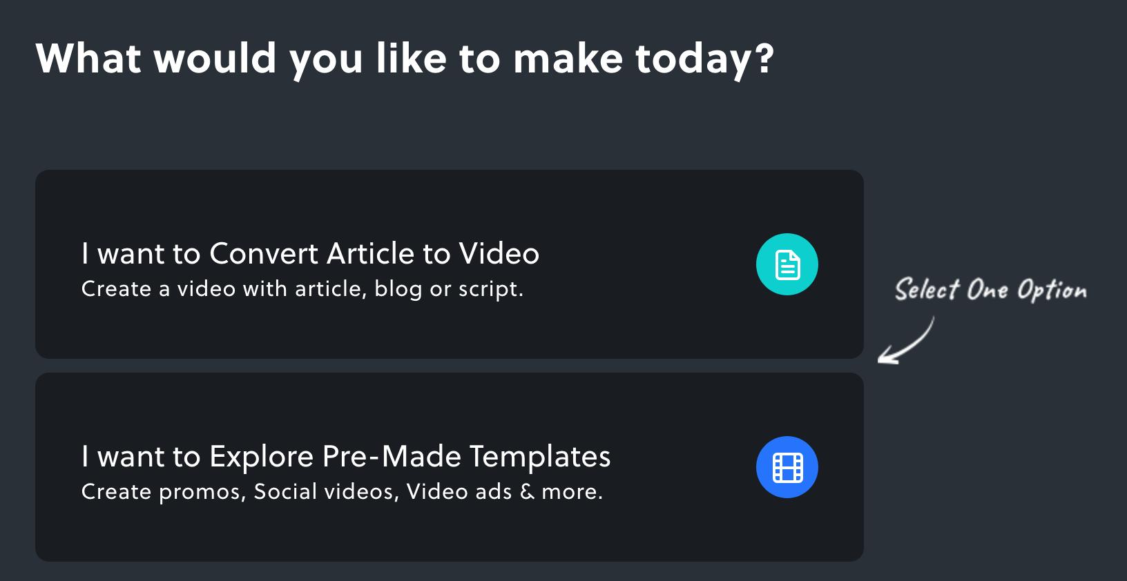 Opzioni di Invideo