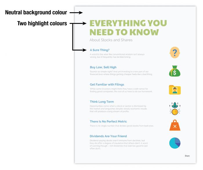 """Utilizzare una combinazione di colori ad alto contrasto per attirare l'attenzione sui messaggi chiave """"larghezza ="""" 640 """"altezza ="""" 535 """"srcset ="""" https://www.smartinsights.com/wp-content/uploads/2018/05/Use-a -high-contrast-colour-schema-per-attirare-attenzione-al-key-messaging - 700x585.png 700w, https://www.smartinsights.com/wp-content/uploads/2018/05/Use-a -high-contrast-colour-schema-per-attirare-attenzione-al-key-messaging - 150x125.png 150w, https://www.smartinsights.com/wp-content/uploads/2018/05/Use-a -high-contrast-colour-schema-per-attirare-attenzione-al-key-messaging - 550x460.png 550w, https://www.smartinsights.com/wp-content/uploads/2018/05/Use-a -high-contrast-colour-schema-per-attirare-attenzione-al-key-messaging - 768x642.png 768w, https://www.smartinsights.com/wp-content/uploads/2018/05/Use-a -colore-contrasto-alto-per-attirare-attenzione-al-messaggio-chiave - 250x209.png 250w """"dimensioni ="""" (larghezza massima: 640px) 100vw, 640px"""