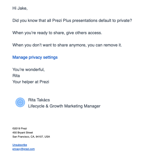 Email Prezi - nuda.