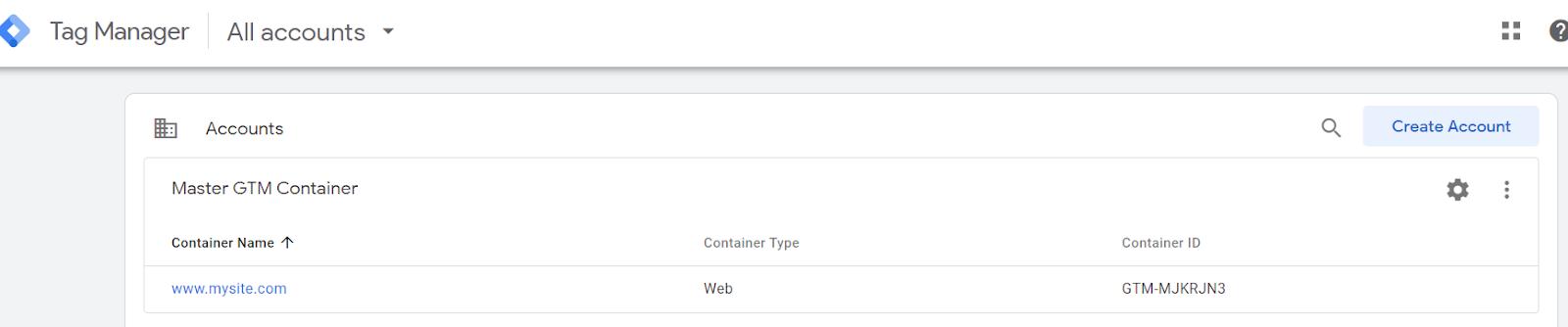 "contenitore master gtm per più siti. ""width ="" 750"