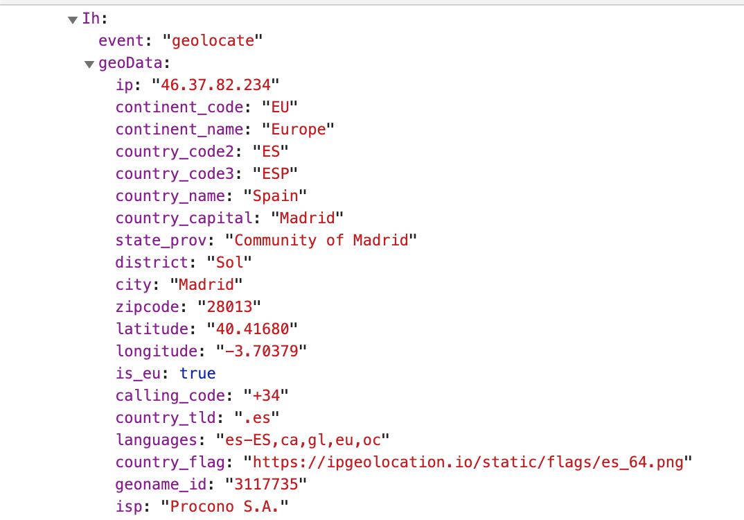 """informazioni sul dataler sulla geolocalizzazione dell'utente. """"width ="""" 550"""