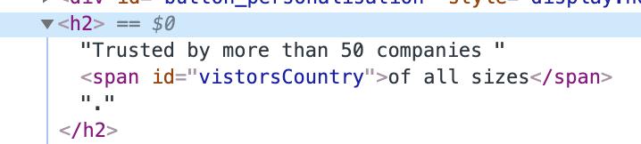 """verifica che il tag span appaia nel codice sorgente. """"width ="""" 400"""