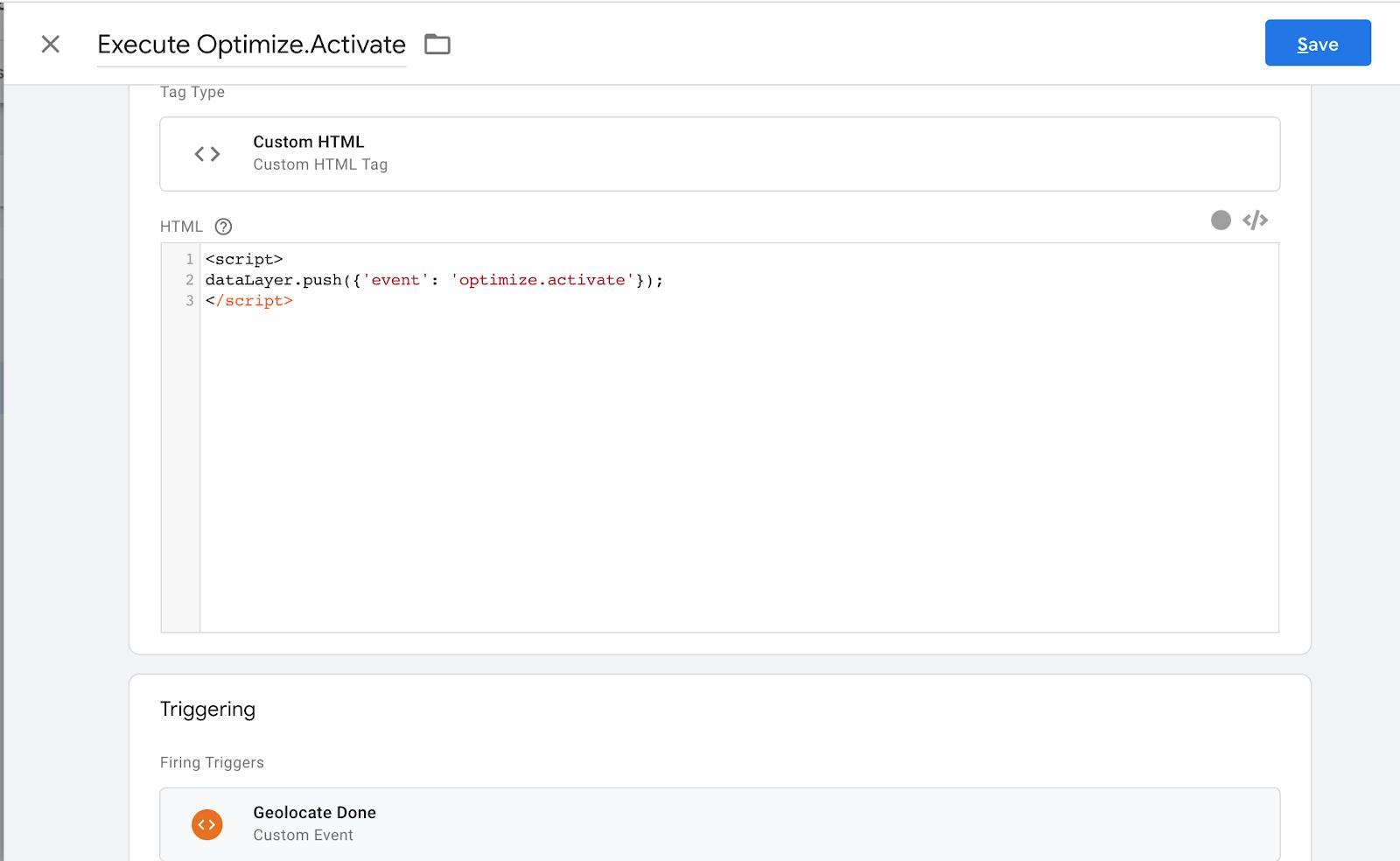 tag html personalizzato.