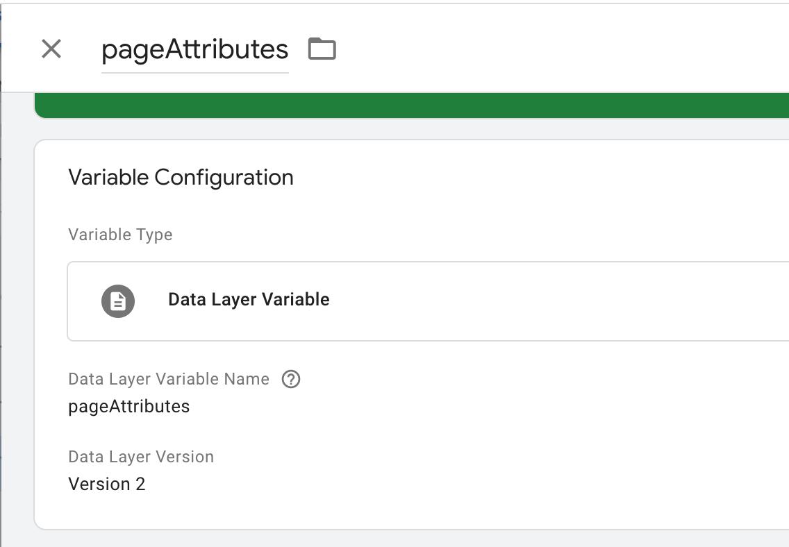 """impostazione variabile del livello dati nel gestore tag google. """"width ="""" 550"""