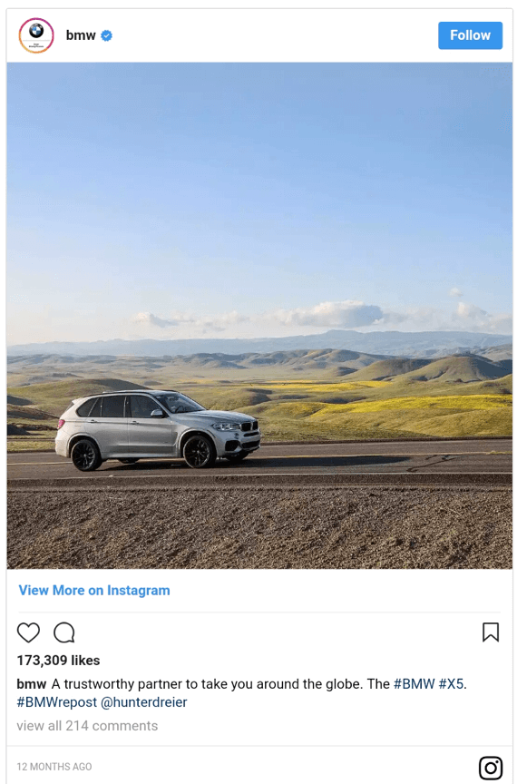 """BMW Instagram post """"width ="""" 570 """"height ="""" 864 """"srcset ="""" https://megamarketing.it/wp-content/uploads/2020/01/1579774379_293_Come-far-crescere-la-tua-attività-di-e-commerce-nel-2020.png 570w, https: // www.smartinsights.com/wp-content/uploads/2020/01/BMW-Instagram-post-550x834.png 550w, https://www.smartinsights.com/wp-content/uploads/2020/01/BMW-Instagram -post-99x150.png 99w, https://www.smartinsights.com/wp-content/uploads/2020/01/BMW-Instagram-post-250x379.png 250w """"dimensioni ="""" (larghezza massima: 570px) 100vw , 570px"""