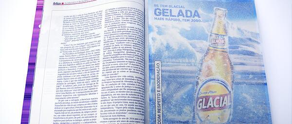 Esempio di annuncio pubblicitario glaciale in una rivista.