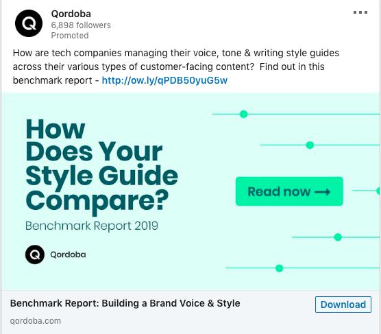 Esempio di vantaggi della messaggistica di marketing Qordoba