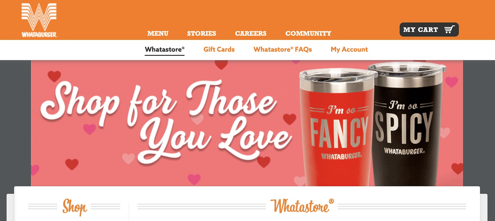 Homepage di Whataburger