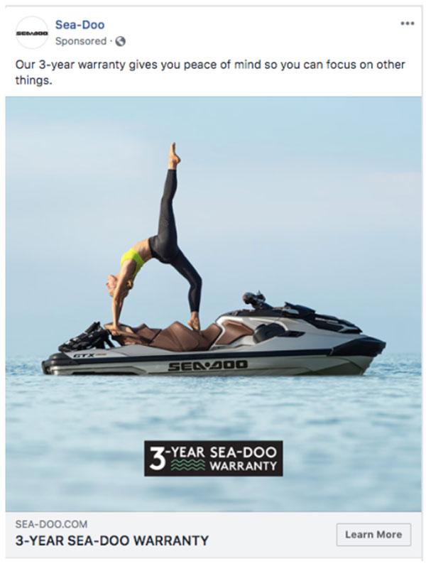 Annuncio Facebook Sea-Doo