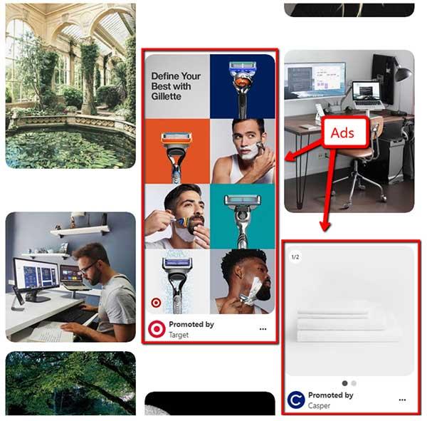 Esempi di annunci Pinterest