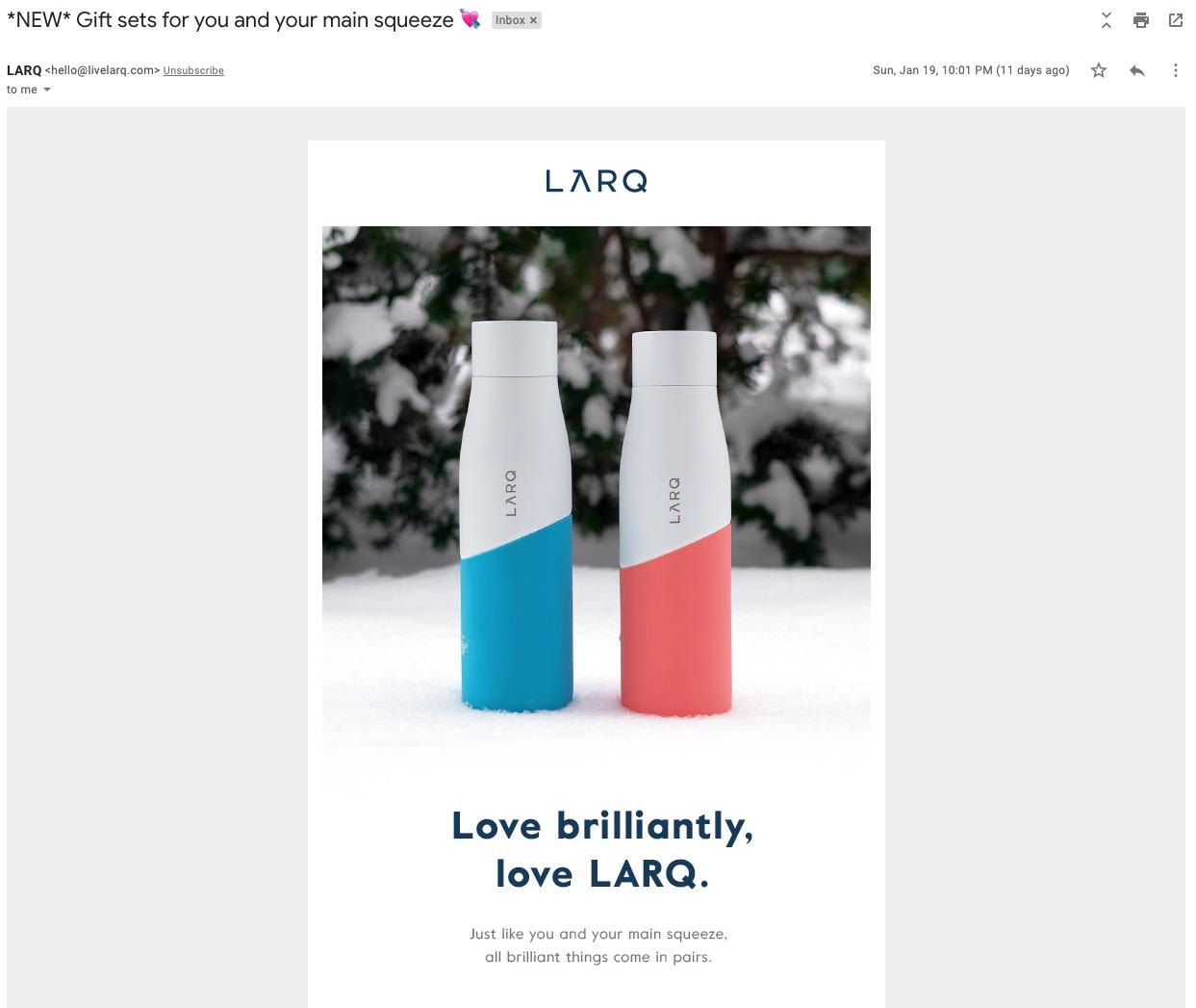 LARQ Vday Email1 1