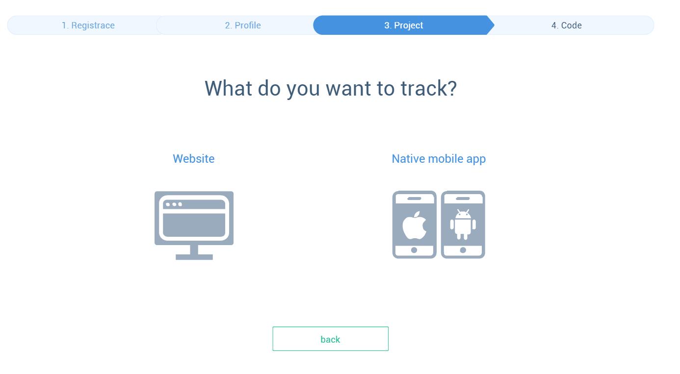 aggiunta dell'opzione app mobile nel flusso di registrazione.