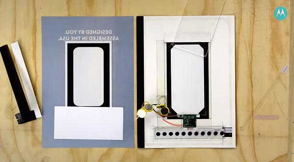 L'annuncio stampa è stato progettato per includere pulsanti che i lettori potrebbero premere per cambiare il colore.