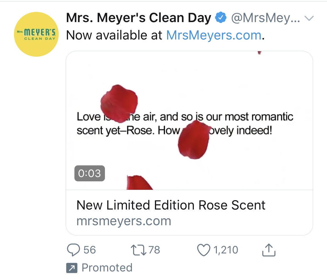 MrsMeyers ValentinesDay Twitter