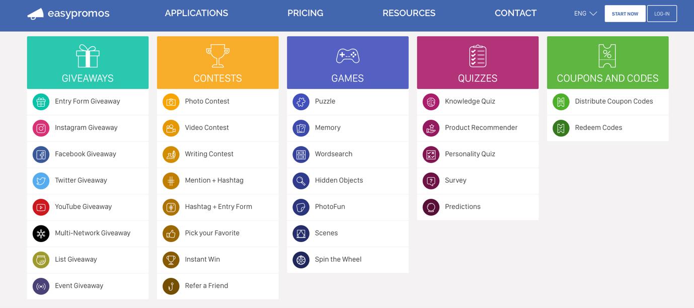 Strumento interattivo di contenuti e contest Easypromos