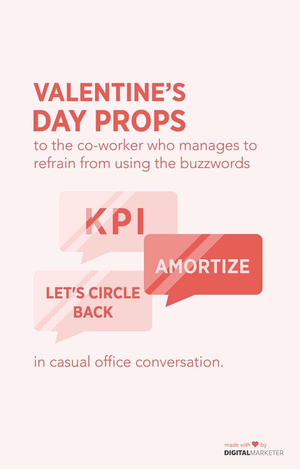 San Valentino si rivolge al collega che riesce ad astenersi dall'usare parole d'ordine