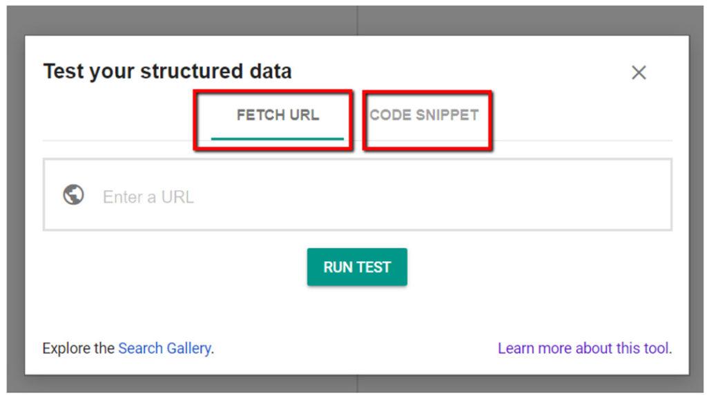Lo strumento di test dei dati strutturati