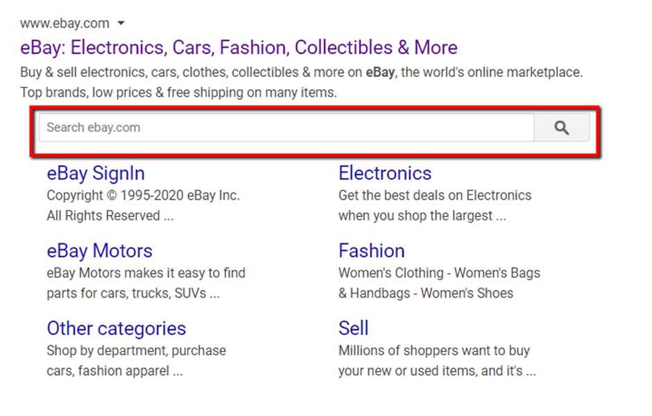 Risultati della ricerca eBay