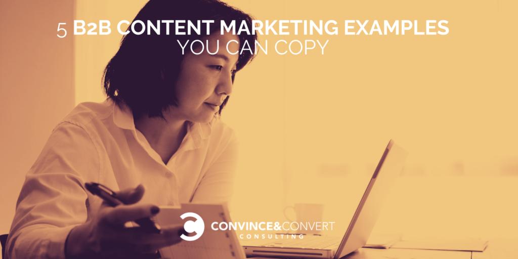 Esempi di marketing di contenuti B2B