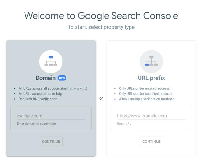 console di ricerca di Google