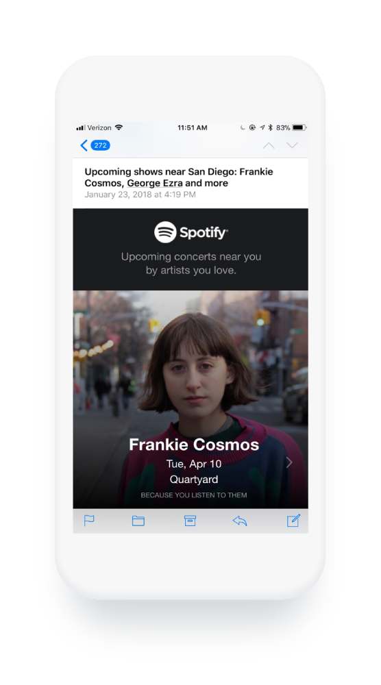 "Spotify invia contenuti utili ai propri abbonati e-mail. ""Width ="" 556 ""style ="" width: 556px; blocco di visualizzazione; margine: 0px auto; ""srcset ="" https://blog.hubspot.com/hs-fs/hubfs/9%20Email%20Marketing%20Habits%20It%20Pays%20to%20Break-2.png?width=278&name=9 % 20Email% 20Marketing% 20Habits% 20It% 20Pays% 20to% 20Break-2.png 278w, https://blog.hubspot.com/hs-fs/hubfs/9%20Email%20Marketing%20Habits%20It%20Pays%20to% 20Break-2.png? Larghezza = 556 e nome = 9% 20Email% 20Marketing% 20Habits% 20It% 20Pays% 20to% 20Break-2.png 556w, https://blog.hubspot.com/hs-fs/hubfs/9%20Email % 20Marketing% 20Habits% 20It% 20Pays% 20to% 20Break-2.png? Width = 834 & name = 9% 20Email% 20Marketing% 20Habits% 20It% 20Pays% 20to% 20Break-2.png 834w, https: //blog.hubspot. com / HS-fs / hubfs / 9% 20Email% 20Marketing% 20Habits% 20It% 20Pays% 20to% 20Break-2.png? width = 1112 & name = 9% 20Email% 20Marketing% 20Habits% 20It% 20Pays% 20to% 20Break-2. png 1112w, https://blog.hubspot.com/hs-fs/hubfs/9%20Email%20Marketing%20Habits%20It%20Pays%20to%20Break-2.png?width=1390&name=9%20Email%20Marketing%20Habits % 20It% 20Pays% 20to% 20Break-2.png 1390w, https://blog.hubspot.com/hs-fs/hubfs/9%20Email%20Marketing% 20Habits% 20It% 20Pays% 20to% 20Break-2.png? Larghezza = 1668 e nome = 9% 20Email% 20Marketing% 20Habits% 20It% 20Pays% 20to% 20Break-2.png 1668w ""size ="" (larghezza massima: 556px) 100vw , 556px"
