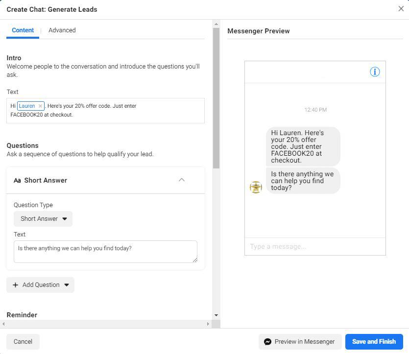 Facebook porta domande sulla campagna