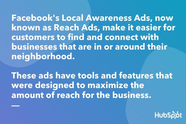 Definizione di annunci di sensibilizzazione locale di Facebook