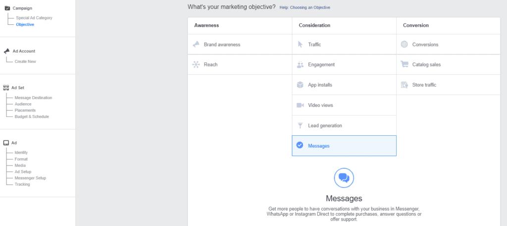 Facebook guida il passaggio 1 della campagna
