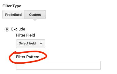 tipi di filtri di google analytics