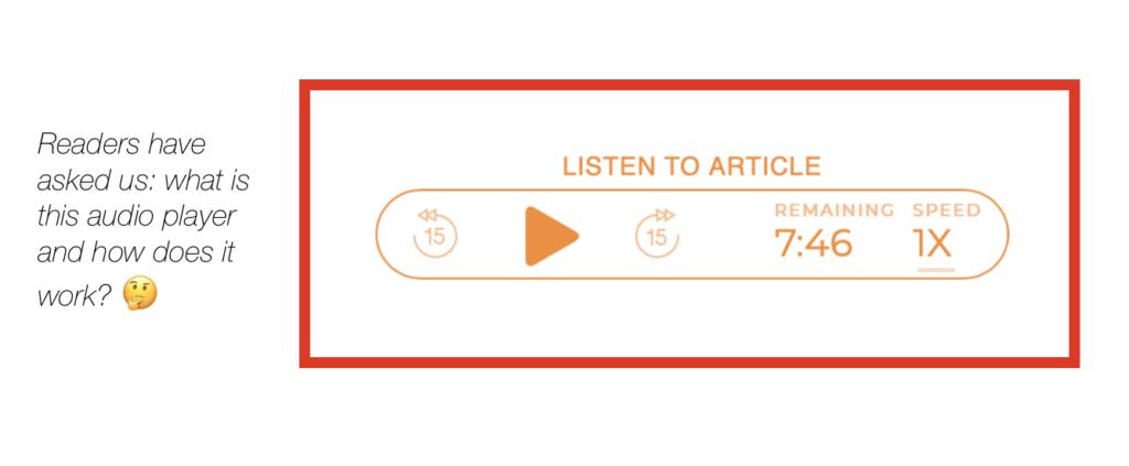 widget di articoli audio