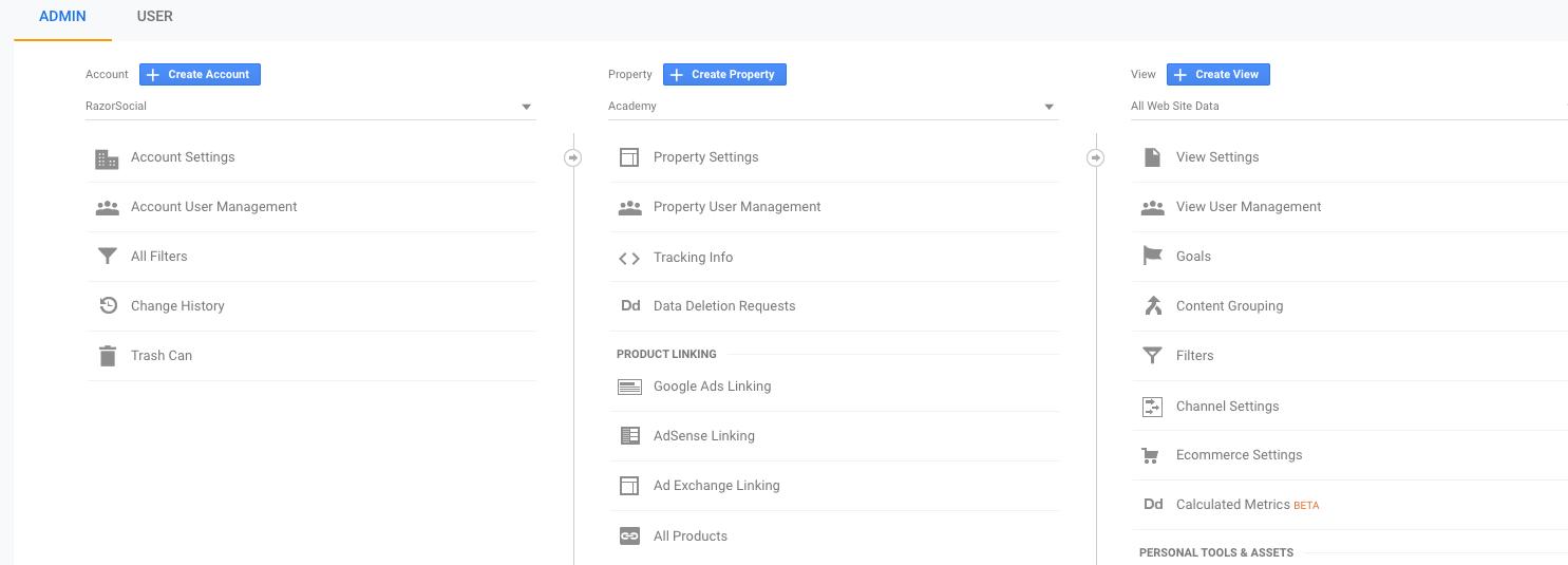 Proprietà di Google Analytics
