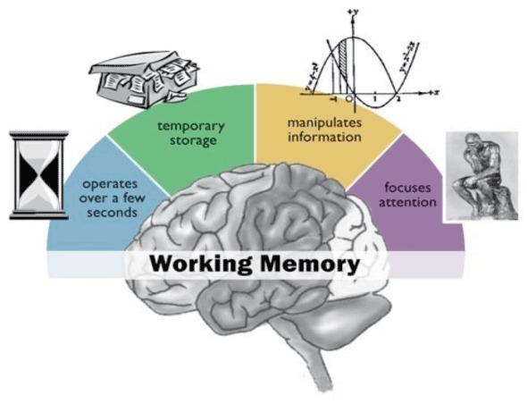 diagramma di memoria di lavoro.