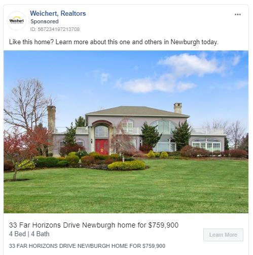 Esempio di annuncio immobiliare